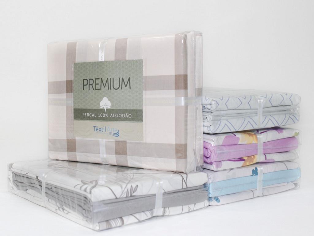 Jogo de Cama Premium Collection - King 1,98M x 2,03M x 30CM - 100% Algodão