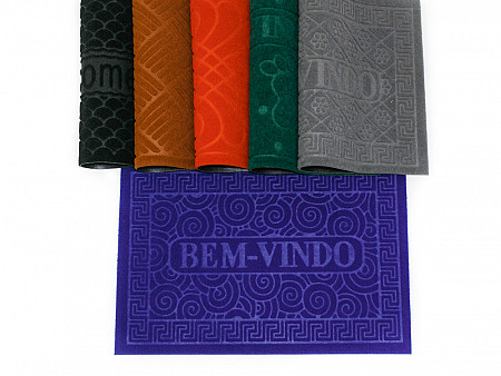 Capacho Carpete Relevo Base PVC - 40CM x 60CM
