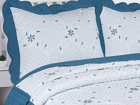 Porta Travesseiros Bordado Requinte Collection - 2 Peças Tamanho 50CM x 70M