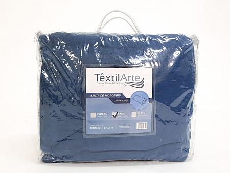 Manta Microfibra Lisa Coral Fleece - Casal Tamanho 1,80M x 2,20M
